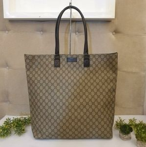 GUCCI Beige GG Coated Canvas Extra Large Tote Bag